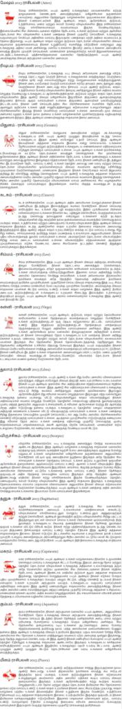 Tamil Rasi Palan - Rasi Palangal 2013