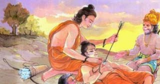 Hanuman in which he is with injured Laxman