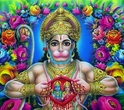 Hanuman in which he is showing Ram-Sita in his chest